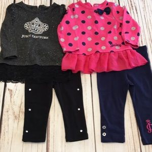 🎀Juicy Couture 12 months set of 2 outfits EUC